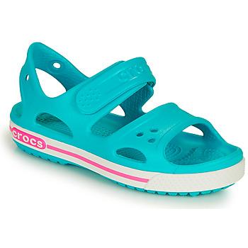 Schoenen Kinderen Sandalen / Open schoenen Crocs CROCBAND II SANDAL PS Blauw / Roze