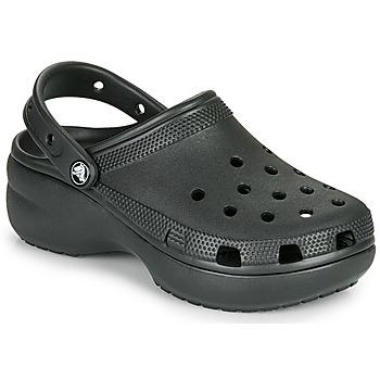 Schoenen Dames Klompen Crocs CLASSIC PLATFORM CLOG W Zwart