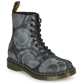 Schoenen Dames Laarzen Dr Martens 1460 PASCAL Zwart / Grijs