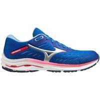 Schoenen Dames Running / trail Mizuno Wave Rider 24 Bleu