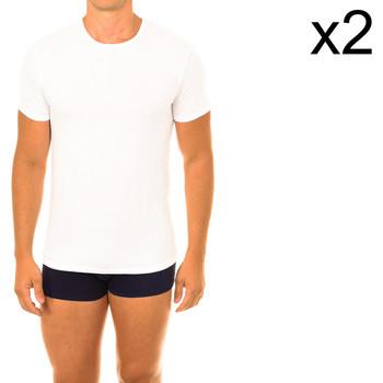 Textiel Heren T-shirts korte mouwen DIM Pack - 2 t-shirts ecoDIM Wit