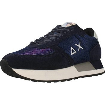Schoenen Dames Lage sneakers Sun68 KATE ANIMAL VELVET Blauw