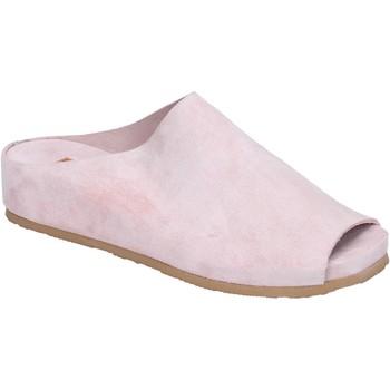 Schoenen Dames Leren slippers Moma BK480 Rose