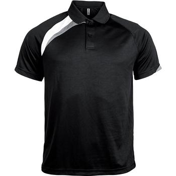Textiel Heren Polo's korte mouwen Proact Polo manches courtes  Sport noir/blanc/gris clair