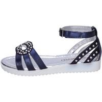 Schoenen Meisjes Sandalen / Open schoenen Fiorucci Sandali Pelle sintetica Strass Blu