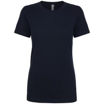 Textiel Dames T-shirts korte mouwen Next Level NX3900 Middernacht marine