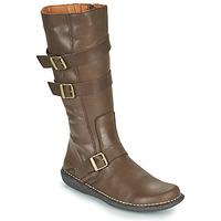 Schoenen Dames Hoge laarzen Casual Attitude NIBOOT Brown