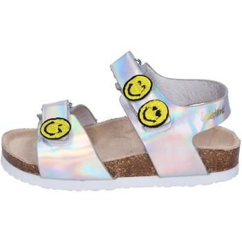 Schoenen Meisjes Sandalen / Open schoenen Smiley Sandales BK507 Argent