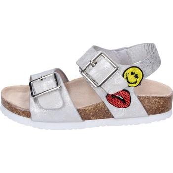 Schoenen Meisjes Sandalen / Open schoenen Smiley Sandales BK509 Argent