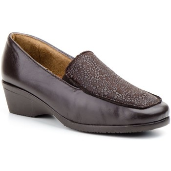 Schoenen Dames Mocassins Cbp - Conbuenpie Mocasines confort de piel by CBP Marron