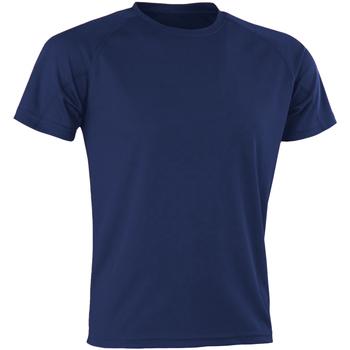 Textiel Heren T-shirts korte mouwen Spiro SR287 Marine