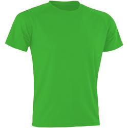 Textiel Heren T-shirts & Polo's Spiro SR287 Flo Green