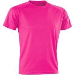 Textiel Heren T-shirts korte mouwen Spiro SR287 Flo Roze