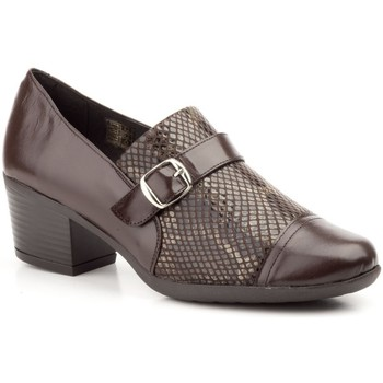 Schoenen Dames Mocassins Cbp - Conbuenpie Zapatos confort de piel by CBP Marron