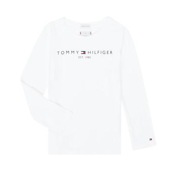 Textiel Meisjes T-shirts met lange mouwen Tommy Hilfiger KG0KG05247-YBR-J Wit