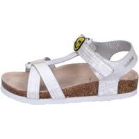 Schoenen Meisjes Sandalen / Open schoenen Smiley Sandales BK514 Argent