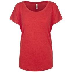 Textiel Dames T-shirts korte mouwen Next Level NX6760 Vintage Rood