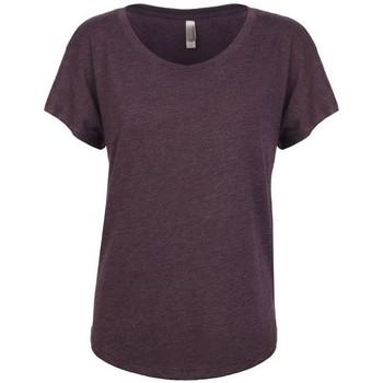 Textiel Dames T-shirts korte mouwen Next Level NX6760 Vintage Paars