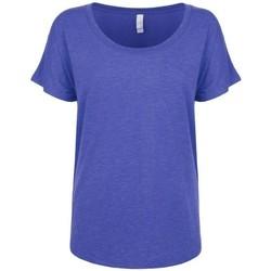 Textiel Dames T-shirts korte mouwen Next Level NX6760 Vintage Koninklijk Blauw