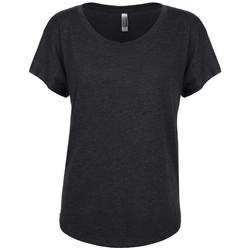 Textiel Dames T-shirts korte mouwen Next Level NX6760 Vintage Zwart