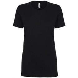 Textiel Dames T-shirts korte mouwen Next Level NX1510 Zwart