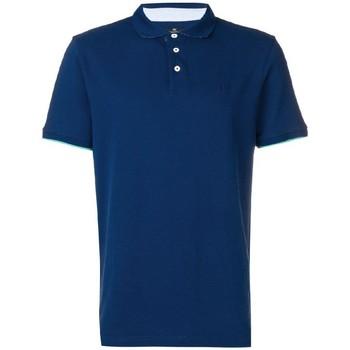Textiel Heren Polo's korte mouwen Hackett  Blauw