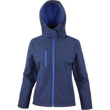 Textiel Dames Trainings jassen Result Veste  Softshell Capuche Femme Tx Performance bleu marine/bleu royal