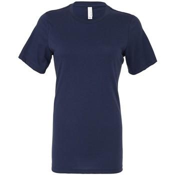 Textiel Dames T-shirts korte mouwen Bella + Canvas BL6400 Marine