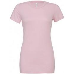 Textiel Dames T-shirts korte mouwen Bella + Canvas BL6400 Roze