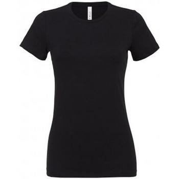 Textiel Dames T-shirts korte mouwen Bella + Canvas BL6400 Zwart
