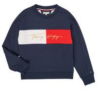 Textiel Meisjes Sweaters / Sweatshirts Tommy Hilfiger KG0KG05497-C87-J Marine