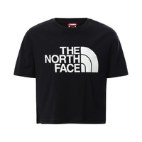 Textiel Meisjes T-shirts korte mouwen The North Face EASY CROPPED TEE Zwart