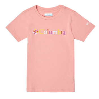 Textiel Meisjes T-shirts korte mouwen Columbia SWEET PINES GRAPHIC Roze