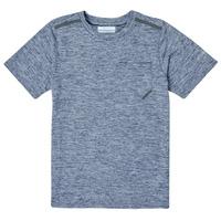 Textiel Jongens T-shirts korte mouwen Columbia TECH TREK Marine