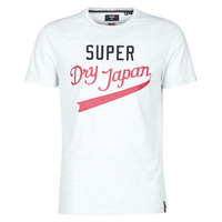 Textiel Heren T-shirts korte mouwen Superdry COLLEGIATE GRAPHIC TEE 185 Grijs