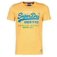 Textiel Heren T-shirts korte mouwen Superdry VL TRI TEE 220 Geel