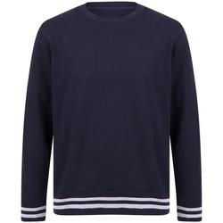 Textiel Sweaters / Sweatshirts Front Row FR840 Marine / Heide Grijs