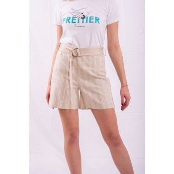 Textiel Dames Korte broeken / Bermuda's Fracomina FR20SM566 Incolore