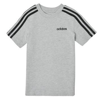 Textiel Jongens T-shirts korte mouwen adidas Performance YB E 3S TEE Grijs