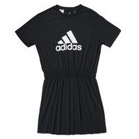 Textiel Meisjes Korte jurken adidas Performance G DANCE DRESS Zwart