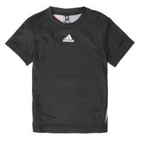 Textiel Jongens T-shirts korte mouwen adidas Performance B A.R. TEE Zwart