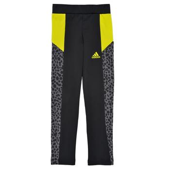 Textiel Meisjes Leggings adidas Performance G LEO TIG Zwart