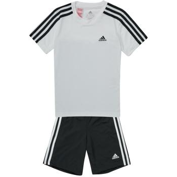 Textiel Jongens Trainingspakken adidas Performance B 3S T SET Wit / Zwart