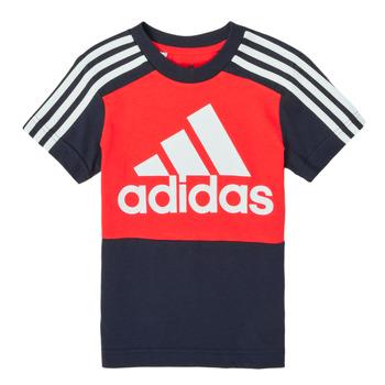 Textiel Jongens T-shirts korte mouwen adidas Performance B CB T Rood / Marine