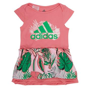 Textiel Meisjes Korte jurken adidas Performance FLOWER DRESS Roze