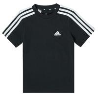 Textiel Jongens T-shirts korte mouwen adidas Performance B 3S T Zwart