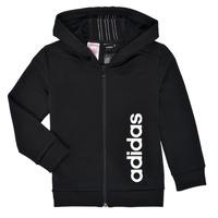 Textiel Jongens Sweaters / Sweatshirts adidas Performance YB TR 3S FZ Zwart
