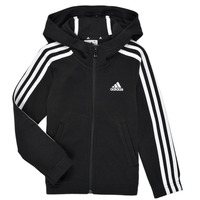 Textiel Meisjes Sweaters / Sweatshirts adidas Performance G 3S FZ HD Zwart