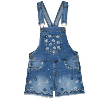 Textiel Meisjes Jumpsuites / Tuinbroeken Desigual 21SGDD04-5053 Blauw