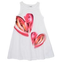 Textiel Meisjes Korte jurken Desigual 21SGVK12-1000 Wit